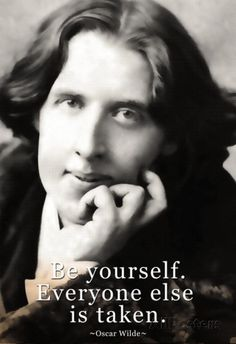 Oscar Wilde Be Yourself Quote Poster Posters at AllPosters.com