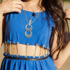 Look do dia vestido azul - instagram 2