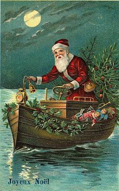 Magic Moonlight Free Images: A Merry Christmas to you ! Here's Santa!
