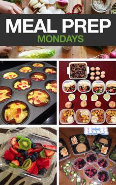 Meal Prep Mondays: Set yourself up for success by planning your meals for the week!   #mealprepmonday #cleaneating