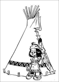 cowboys  indianer: kostenlose malvorlage: indianer und sein zelt zum ausmalen | indiános
