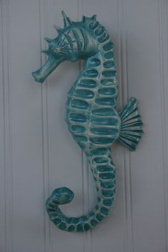 Cute Shabby Chic Hand Made Clay Seahorse Hook by Elliesmermaids on Etsy, $40.00