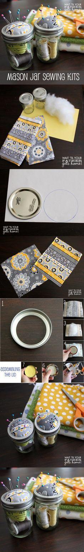 Costureros DIY con tarros - waittilyourfathergetshome.com - DIY Mason Jar Organizer