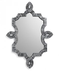 Bethany Mirror, Grey A stunning mirror featuring hand applied bone inlay and a chic shape. The perfect punctuation for any wall.   Style:  ...