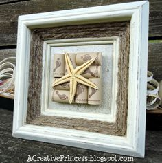 Wine Cork Beach Framed Decor