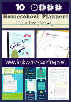 10 Free Homeschool Planners for the New School Year