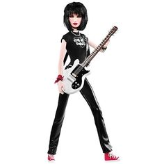 Although Made From Mattel - And Is Actually A Barbie. This a Joan Jett Figure That Was Released Last Yr. During Their Women Of The 80's Collectors Line- Also Featured Debbie Harry And Cyndi Lauper.. Of Course I Had To Have It.