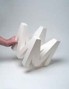 4D Type (Lettering, Exhibitions) by Lo Siento Studio, Barcelona @Lo Siento