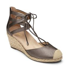 34b0ff30bb97 Shop for Women s Vionic with Orthaheel Technology Calypso Espadrille Wedge  Pewter. Get free delivery at Overstock - Your Online Shoes Outlet Store!
