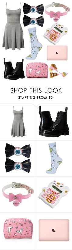 """""""Untitled #1548"""" by llamapoop ❤ liked on Polyvore featuring Club L, Dr. Martens, Kreepsville 666, Topshop and Forever 21"""