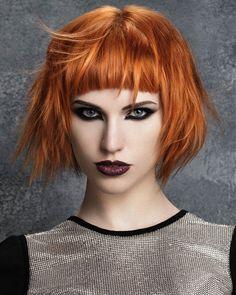Medium Orange Hairstyles. Love the colour.