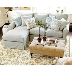 Baldwin Sectional Slipcover - Left Arm Chaise & Right Arm Loveseat - Special Order Fabrics | Ballard Designs