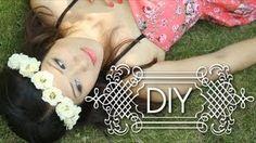 DIY Make Boho Flower Crowns Headband - Music festival {How to }, via YouTube.
