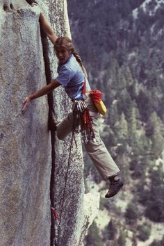 Lynn Hill in an iconic shot used on the cover of a Patagonia Catalogue. Photo: Rick Ridgeway / 2011 Patagonia