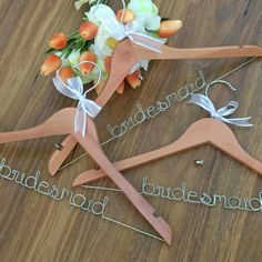 Bridesmaid gift; bridesmaid hanger; personalised hangers; wedding coat hanger; by Bridal Bling Australia www.bridalbling.com.au