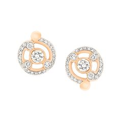 Fabergé Rococo Pavé Diamond Rose Gold Stud Earrings #Fabergé #Rococo #diamond #earrings