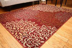Feraghan/New City Contemporary Modern Floral Flowers Wool Area Rug, 13' x 16', Cinnamon/Brown/Beige