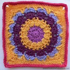 Block a Week CAL 2014 #8 - Cocoa Puff Crochet Square