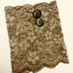 Tan lace boot cuffs.  Buttons make everything look more comfy-cozy.  Www.etsy.com/shop/MostBeautifulDesigns
