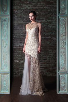Guipure & Tulle Couture Dress
