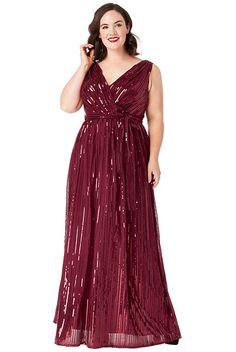 b02e07b8a6c5 Vínové společenské šaty s flitry City Goddess Afrodita