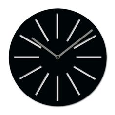 Diameter: 25 cm (9.8 inch) Depth: 3,2 cm (1.6 inch) Wall Clock Black And White, Wall Clock Online