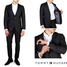 Gender:Man Type:Men suit Fastening:buttons Sleeves:long External Internal Material:wool Main lining:polyester Washing:dry clean Model height, Model wears a Fit:slim Inside:lined DROP 6 Elegant Man, Mens Suits, Tommy Hilfiger, Suit Jacket, Slim, Clothing, Model, Sleeves, How To Wear