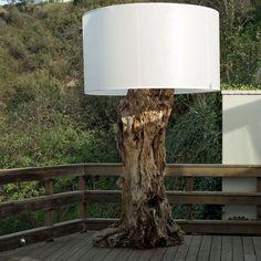 Garten Terrasse Wohnideen Möbel Dekoration Decoration Living Idea Interiors home garden - Platz im Freien mit Treibholz Lampe