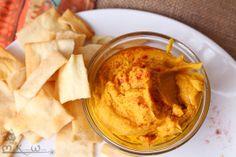Harvest Vegan Sweet Potato Hummus via http://MissKitchenWitch.com for #VeganMOFO