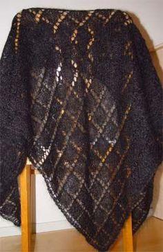 Neulottu kolmiohuivi Crochet Scarves, Knit Crochet, Crochet Tablecloth, How To Purl Knit, Neck Warmer, Shawl, Diy And Crafts, Knitting, Sewing