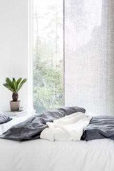 Susanna Vento for Kinnasand in the incredible home of Musta Ovi. Dream Bedroom, Home Bedroom, Master Bedroom, Bedroom Decor, Light Bedroom, Modern Bedroom, Interior Architecture, Interior Design, Interior Styling