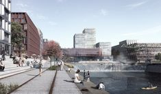COBE Designs Huge Public Pool and Waterfall for New Harbor District in Cologne,© COBE and Beauty and the Bit