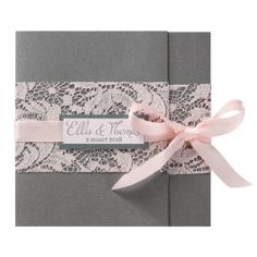 Announce wedding romantic gray lace ribbon roses - BELARTO Romantic 72607 . Wedding Tips, Fall Wedding, Diy Wedding, Dream Wedding, Paris Wedding, Wedding Cake, Contemporary Art Prints, Lace Ribbon, Wedding Invitation Cards