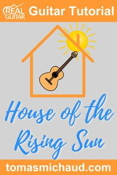"""Learning to play, """"House Of The Rising Sun"""" on guitar is a great way to practice fingerstyle guitar. """"House of the Rising Sun"""" has been done by several artists like The Animals, Bob Dylan, Dolly Parton, Woody Guthrie, and more! As I was playing my guitar, I realized that this song sounds good with a nice fingerpicking pattern. It is a fun way to practice this pattern rather than just treating it as a guitar exercise. #guitarsongs #fingerstyleguitar #playguitar #learnguitar Play Guitar Chords, Learn Acoustic Guitar, Learn To Play Guitar, Guitar Songs, Guitar Exercises, Guitar Online, House Of The Rising Sun, Fingerstyle Guitar, Guitar Lessons For Beginners"""