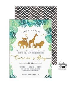 Safari Baby Shower Invitation / Boho Safari Baby Shower