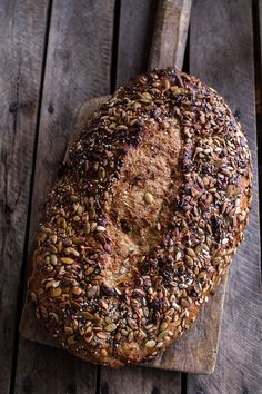 """Seeded Whole Grain Breakfast Bread"" | halfbakedharvest.com #recipe #baking"