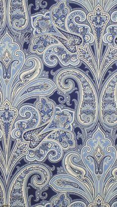 blue paisley