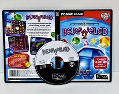 bejeweled 2 pc/mac gamer cd-rom computer game fun pop cap worlds no1 puzzle game