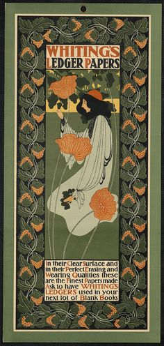 Art Nouveau ad for ledger papers