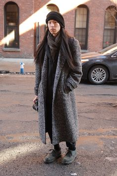 a big, yummy overcoat.   They Are Wearing: New York Fashion Week Fall 2014 - Slideshow - WWD.com