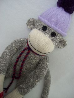 Sock monkey pdf.  Perfect for CRAFT HOPE PROJECT 19!! http://www.facebook.com/home.php#!/notes/craft-hope/project-19-dolls-animals-and-monsters-oh-my/536873349675087