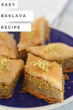 Homemade baklava is so easy to make and adapt to your own liking. Easy, crispy and flaky baklava recipe to feed a crowd. Pastry Recipes, Baking Recipes, Graham, Delicious Desserts, Yummy Food, Most Popular Desserts, Jello Recipes, Creative Desserts, Bakken
