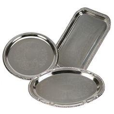 Bulk Nickel-Plated Trays at DollarTree.com