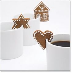 Chocolate biscuits with caramel fondant heart - HQ Recipes Christmas Desserts, Christmas Treats, Christmas Baking, Christmas Cookies, Christmas Holidays, Christmas Decorations, Xmas, Snookerdoodle Cookies, Galletas Cookies