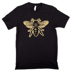 Gold screen printed t-shirt for Jimmy's