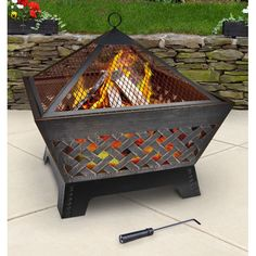 Landmann Barrone Fire Pit with Cover 26x26