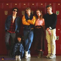 The Breakfast Club - Group Halloween Costume Idea Love dressing up! Best Group Halloween Costumes, Halloween Costume Contest, Family Halloween Costumes, Halloween Kostüm, Couple Halloween, Halloween Cosplay, Halloween Outfits, Costume Ideas, Zombie Costumes