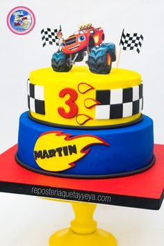 Torta Blaze and the monster machines - Blaze and the monster machines cake