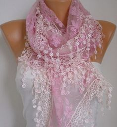 Hey, I found this really awesome Etsy listing at http://www.etsy.com/listing/94348221/on-sale-pink-lace-scarf-women-shawl