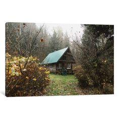 Red Barrel Studio Skykomish Ski Cabin Photographic Print on Wrapped Canvas Size:
